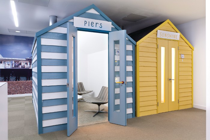 Beach huts office