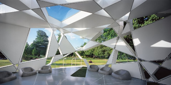 Serpentine Galleries Pavilion, 2002, by Toyo Ito's and Cecil Balmond