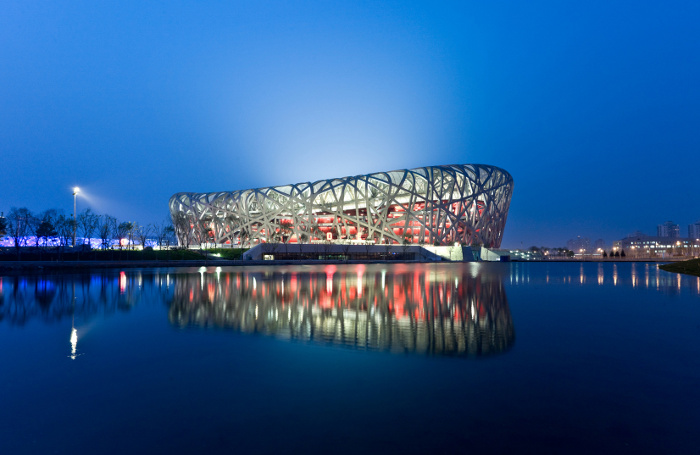 Beijing National Stadium designed by Herzog & de Meuron