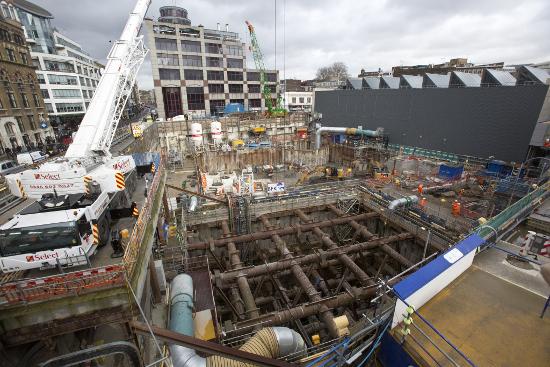 Crossrail construction site, EC2Y