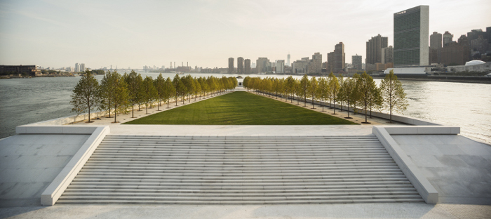 Franklin D. Roosevelt Four Freedoms Park, New York, 1973-2012, Louis Kahn _ Franklin D. Roosevelt Four Freedoms Park Photo Paul Warchol