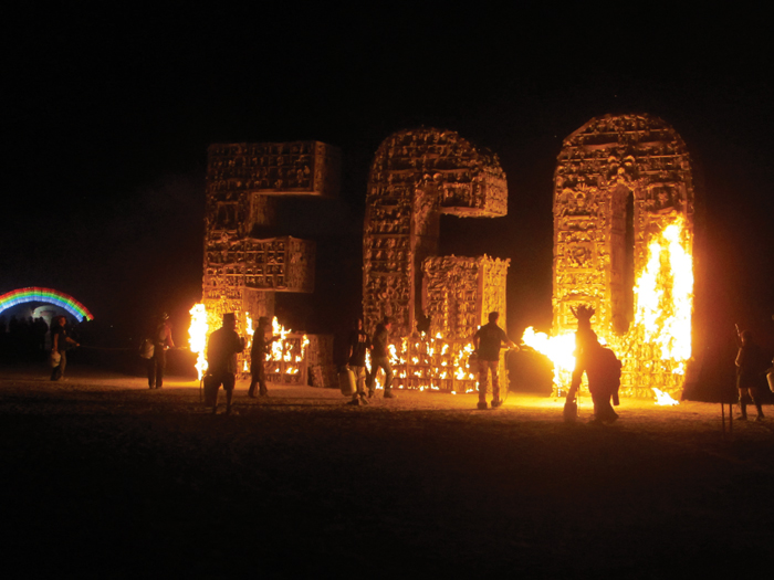 EGO, Burning Man, Black Rock Desert, Nevada, 2012.