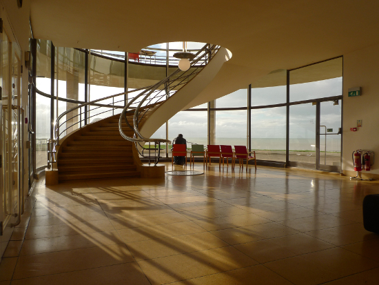 De La Warr Pavillion (interior staircase). Bexhill-on-Sea, East Sussex.