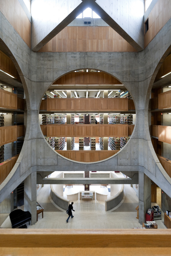 Library, Phillips Exeter Academy, Exeter, New Hampshire, Louis Kahn, 1965-72 _ Iwan Baan