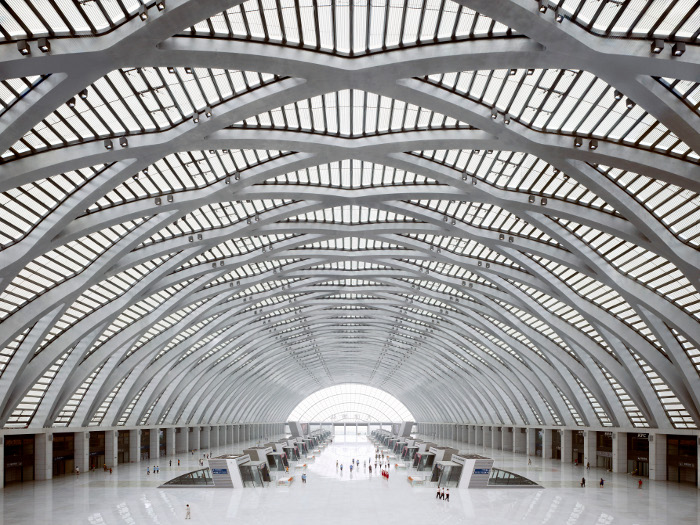 Tianjin_West_Station_on Gerkan, Marg and_Partners_Architects_(gmp)