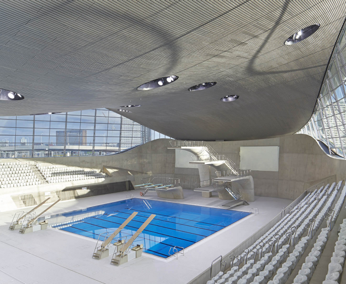 London Aquatics Centre Design: Zaha Hadid Architects. Photo: HuftonCrow