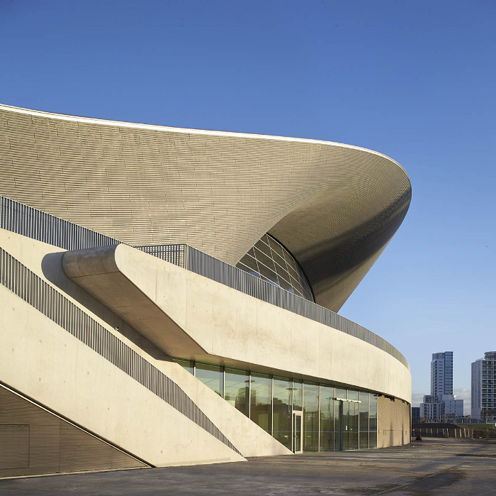 London Aquatics Centre Design: Zaha Hadid Architects. Photo: Hufton + Crow
