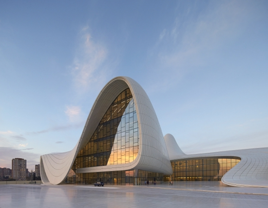 Heydar Aliyev Center, Baku, Azerbaijan, by Zaha Hadid  Awards: Design of the Year Award