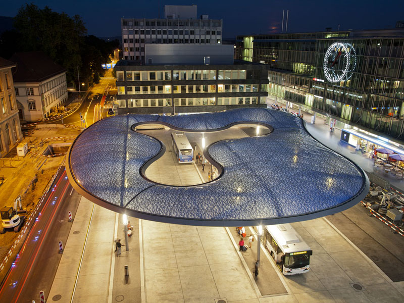 Cloud-Like Canopy for Swiss Bus Station, Aarau