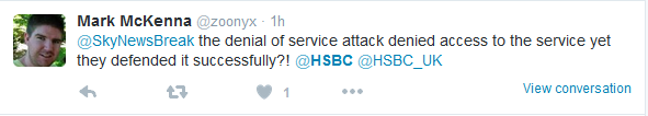 HSBC customer queries successful defence