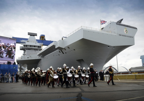 HMS Queen Elizabet ceremony