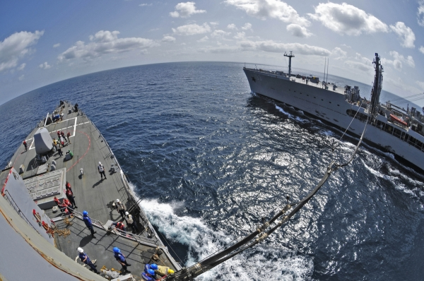 Navy ship refuelling