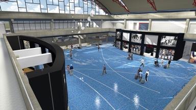 Pittsburgh international airport to get new terrazzo floor for Floor 2 pittsburgh
