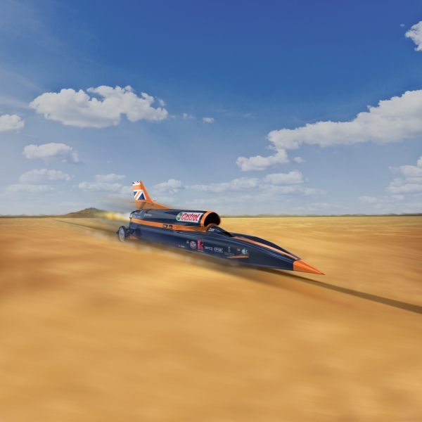 Bloodhound project racing desert