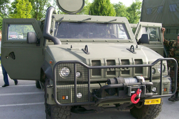 IVECO armoured vehicle