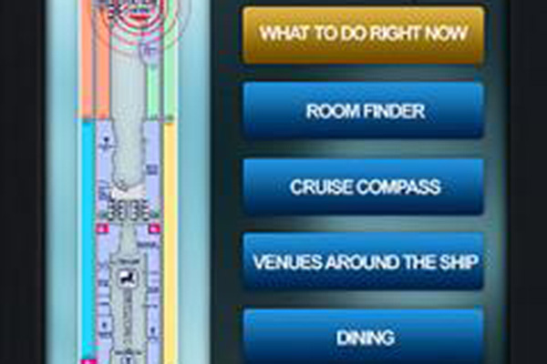 lcd wayfinder for cruise ships