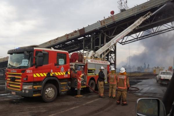 Fire truck at hazelwood mine