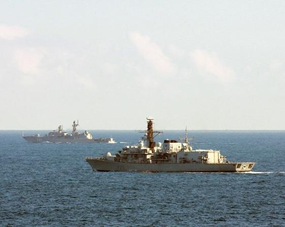 UK Royal Navy's Type 23 Duke-class frigate HMS Argyll