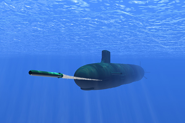 Image result for torpedo in the water