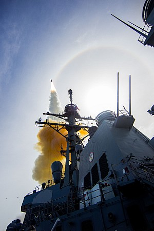 Aegis Baseline Destroler weapon System testing