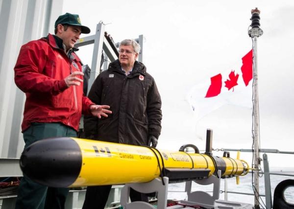 Canada president harper rov erebus search