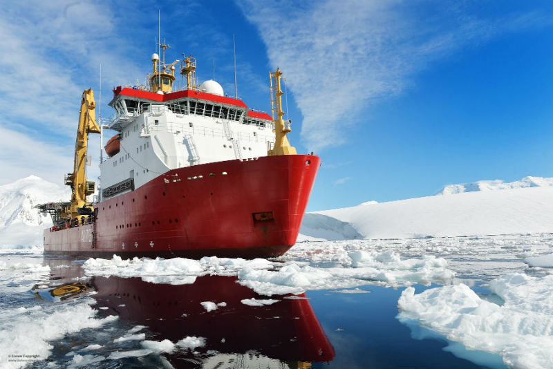 Polar research ship