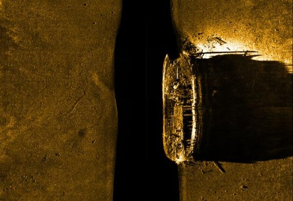 Erebus on sonar