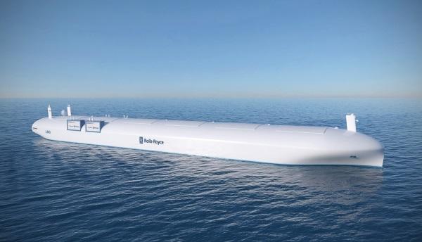 Unmanned cargo ship rolls royce