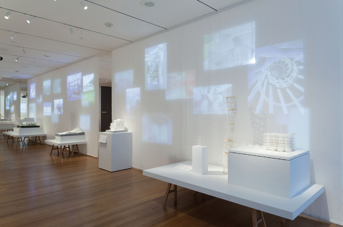 Installation view of A Japanese Constellation: Toyo Ito, SANAA, and Beyond at the Museum of Modern Art, New York