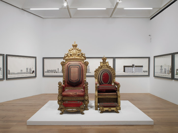 Pablo Bronstein and the Treasures of Chatsworth (2015), installation view at Nottingham Contemporary. Photo: Andy Keate