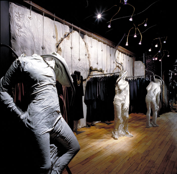 After selling some Rover chairs to Jean Paul Gaultier Ron Arad went on to design Gaultier's first London shop