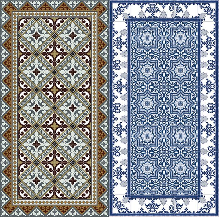 Flor de Lis mats by Beija Flooring